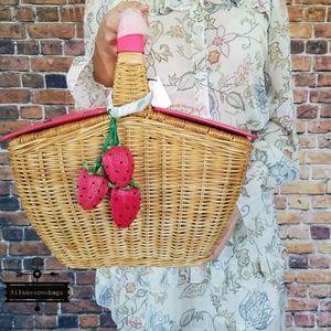 Kate spade rare 3D picnic wicker basket tote bag